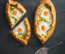 Three cheese pides
