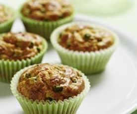 Muffins de queso y verduras
