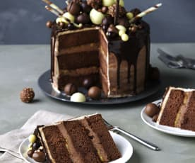 Chocolate dripping cake (Tarta de goteo)