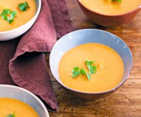 Soupe à la courge et au lait de coco