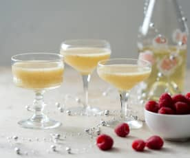 Lychee sorbet cocktail