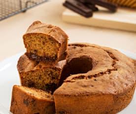 Bizcocho de galletas y chocolate (sin gluten)