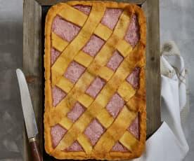 Crostata fragole e ricotta (senza zucchero)