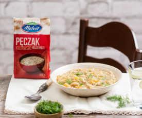 Zupa jarzynowa z fasolą i pęczakiem