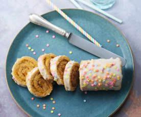 Gâteau roulé à la confiture, glaçage au citron