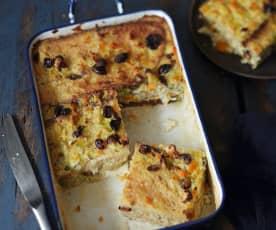 Pudding de légumes aux noisettes et aux cranberries