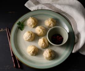 Soup dumplings (xiao long bao)