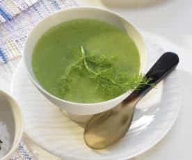 Erbsen-Fenchel-Suppe