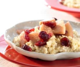 Apfel-Cranberry-Kompott mit Bulgur