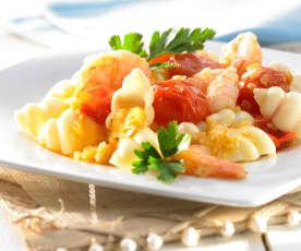 Tomaten-Garnelen-Sauce