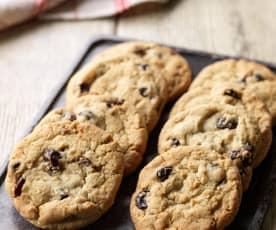 Višňové cookies s kokosem