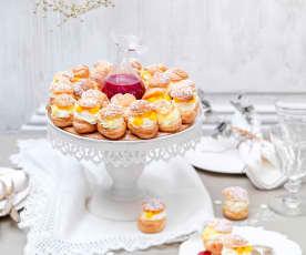 Couronne de choux à la vanille et fruits exotiques