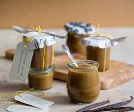 Caramel vanille bourbon saus
