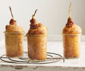 Spek-wortelbroodjes