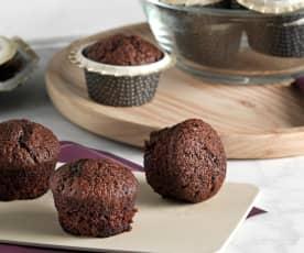 Magdalenas de chocolate (sin huevo)