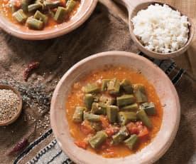 Okras con tomate (Argelia)