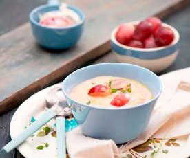 Zupa krem z pieczonej pietruszki z migdałami
