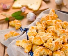Sýrové rohlíčky s česnekem
