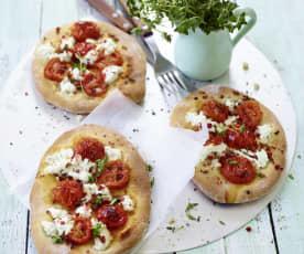 Mini-Pizzen mit Ziegenkäse