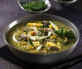 Soupe de riz asiatique, façon porridge
