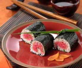 Sushi allo spada affumicato