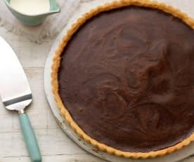 Schokoladen-Frischkäse-Tarte