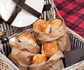 Pan picnic de tres sabores