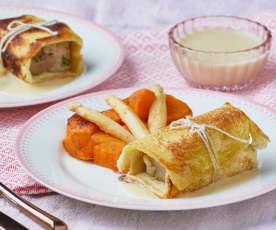 Vitello in crosta di pane con patate dolci