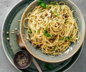 Spaghetti mit Oliventapenade