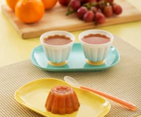 Gelatina de naranja y uva