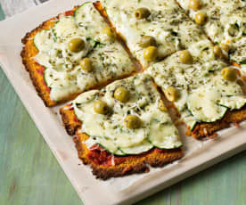Pizza vegetariana sin gluten