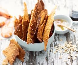 Crackers aux crevettes
