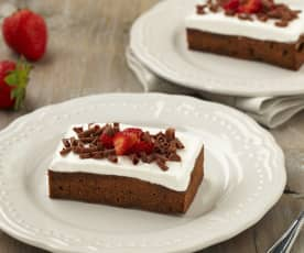 Čokoládový koláč v páře
