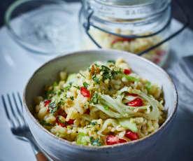 Weizen-Salat mit Granatapfelkernen