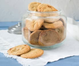 White chocolate and cardamom buckwheat cookies