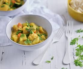 Curry di verdure all'indiana (Bimby Friend)
