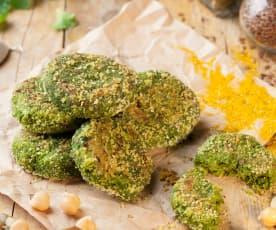 Mini burger di broccoletti e ceci