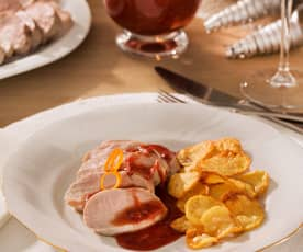 Solomillo de cerdo con salsa Cumberland