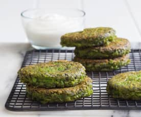 Pea and garden mint fritters