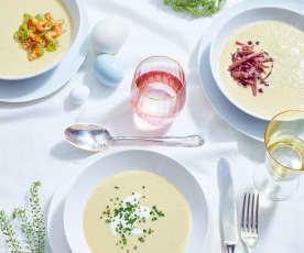 Frühlingszwiebel-Porree-Cremesuppe
