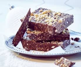 Knusperschokolade mit Karamellsplittern