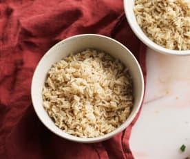 Arroz basmati integral (Cocción de arroz)