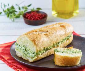 Barra de pan con formaggio