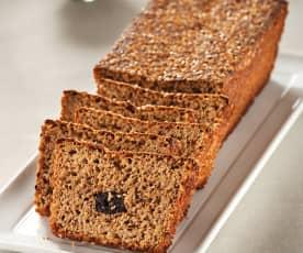 Pan integral con salvado y ciruelas pasas