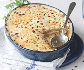 Lasaña de ternera y queso manchego (sin tomate)