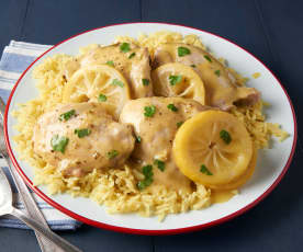 Lemon Rosemary Chicken and Rice