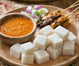 Nasi impit (compressed rice cakes)