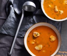 Sopa de peixe e legumes