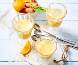 Petit déjeuner à boire (coco, orange, banane, carotte)
