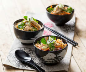 Korean barbecue chicken with rice
